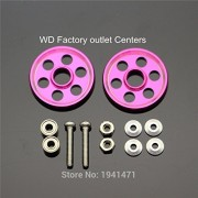 Generic Green : MINI 4WD Light Strong Aluminum 19mm Roller /Self-made Parts Tamiya MINI 4WD 19mm Colored Aluminum Guide -Wheel D032 2 sets /lot