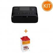 Kit Canon Selphy CP-1300 Negru + Set Hartie si Toner RP-108