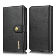 DG.MING Split Leather Wallet Style Case with Stand for iPhone 11 6.1 inch - Black