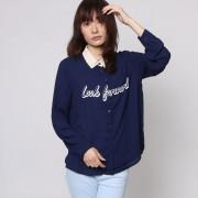 【SALE 69%OFF】ジエンポリアム THE EMPORIUM ロゴプリントチェックシャツ (ネイビー)