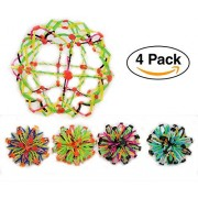 Glow Works Sphere Toy Rings Stretch Expanding Ball Toys Set Of 4 - Assorted Colors Great For Party Favors