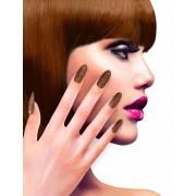 Koperkleurige glitter nep nagels voor volwassenen - Schmink