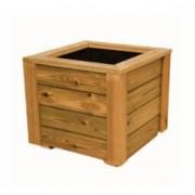 Jardinera de madera de pino nórdico tratado en autoclave de 80x80x80 cm. de Madera para terrazas y jardines