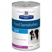 Hill's Prescription Diet 24 x 370 g Hill's Prescription Diet Canine D/D Allergy & Skin Care Hondenvoer - Eend