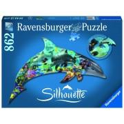 Ravensburger puzzle contur delfin, 862 piese
