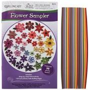 Quilled Creations Kit para filigrana de muestras de flores