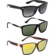 NuVew Rectangular, Wayfarer Sunglasses(Black, Grey, Golden, Violet)