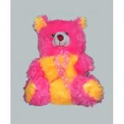 pink yellow colour Soft Teddy Bear 38cm.-3