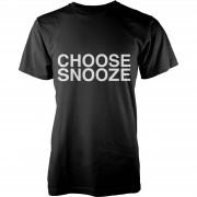Geekdown Camiseta Choose Snooze - Hombre - Negro - XXL - Gris