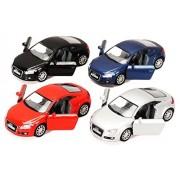 2008 Audi TT Coupe, Set of 4 - Kinsmart 5335D - 1/32 Scale Diecast Model Toy Cars