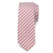 Férfi keskeny nyakkendő (minta 1205) 6544 -ban piros szín