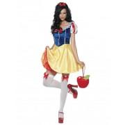 Vegaoo Sexy Märchen-Prinzessin Damen-Kostüm gelb-blau