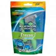 Wilkinson Sword Xtreme3 Duo Comfort Face & Body Disposable Razors 4 st Engångsrakhyvlar