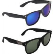 Zyaden Wayfarer, Wayfarer Sunglasses(Blue, Green)