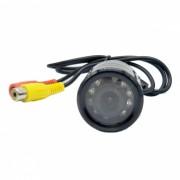 XY-1228 camara de vision trasera del coche con cable universal a prueba de agua w / 9-IR LED vision nocturna-negro