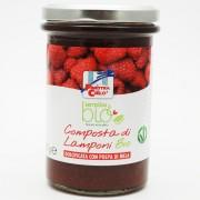 Gem bio de zmeura (indulcit cu pulpa de mere) 320g (produs vegan)