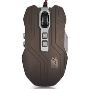 PowerLead Gpow PJS-X9 9 Buttons 800/1200/1600/2400DPI Wired Gaming Mouse with 4 Breathing LEDs Professional Gaming Mices Mouses(Grey)