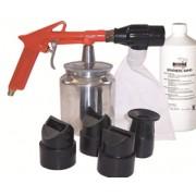 RODAC zandstraalpistool + straalzand + 4 nozzles
