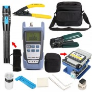 12-in-1 Professional Fiber Optic Tool Kit incl Precision Fiber Cleaver, Fiber Strippers, Fiber Tester