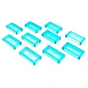Lego Parts: Tile 1 x 2 with Groove (Service Pack 3069B - 10 Trans.Light Blue)
