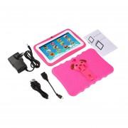 7 Pulgadas Quad Core Niños Aprendiendo Tablet PC 512MB RAM +8GB ROM Para Android 4.4 Rosa