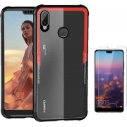 Teleplus Huaweı P20 Lite Back Transparent Silicone Case Mixed Color + Nano Screen Protector hoesje