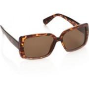 Sunmate Rectangular Sunglasses(Brown)