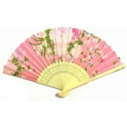 A&R Handicraft Foldable Polka Print Pink Hand Fan(Pack of 1)