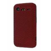Slim Mesh Case for HTC Incredible S - HTC Hard Case (Red)