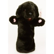 Long Sleeved - 15 Inch Glove Puppet - Black Labrador
