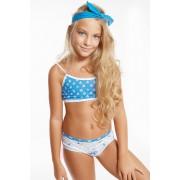 Flower Blue lányka szett, lányka alsó és top