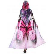 rosegal Festival Butterfly Design Chiffon Hooded Cape