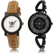The Shopoholic White Black Combo New Stylist Latest White And Black Dial Analog Watch For Girls Women Watches Fashion
