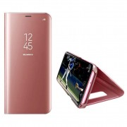 Husa Telefon Huawei P Smart Z / Y9 Prime (2019) Flip Mirror Stand Clear View Rose Gold