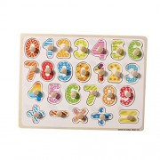 Wooden Numbers Puzzle Game Educational Number Board Puzzle Toys for Kids