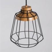 Kosiluz Lámpara de techo negra con base de madera - May