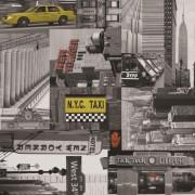 Taxi öntapadós mintás tapéta