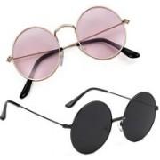 Tazzx Round Sunglasses(Violet, Black)