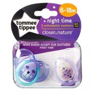 Tommee Tippee Night Time Lila - 6-18 Månader