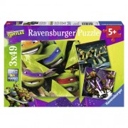 Puzzle testoasele ninja, 3x49 piese, RAVENSBURGER