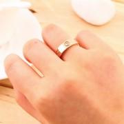 EY Tres Uñas De Tres Anillo De Diamantes Que Tiene Un Diamante Rosa De Oro 6cm 6 #