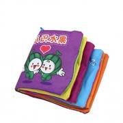 Baby First Non-Toxic Soft Cloth Book Intelligence Development Cloth Book Toys (Fruit)