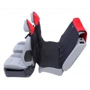 Kardiff Activ Mata samochodowa na tylne fotele z zamkiem M czarno-czerwona