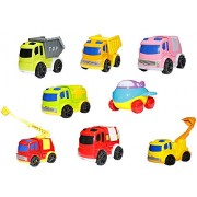 TOYZTREND Urban Transport Toy Vehicles Combo of 8 Transport and Public Vehicles