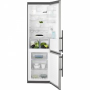 Combina frigorifica No Frost Electrolux EN3854MOX, 60 cm, inox, TwinTech®, afisaj LCD