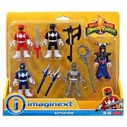 Power Rangers Mighty Morphin Imaginext Battle Pack Mini Figure 5 Pack
