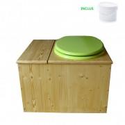 Toilette sèche - La Bac Vert pomme huilée