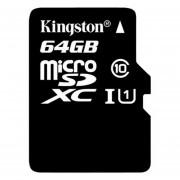 Tarjeta De Memoria Kingston Micro SD XCI 64GB Negro