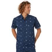 Rip Curl Summer Palm Mens Ss Shirt Navy Navy