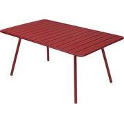 Fermob Table rectangulaire Luxembourg / 6 à 8 personnes - 165 x 100 cm - Fermob piment en métal